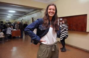 A professora Soledad Martinez, que votou na Faculdade de Direito de Buenos Aires, nas eleições legislativas de 2017