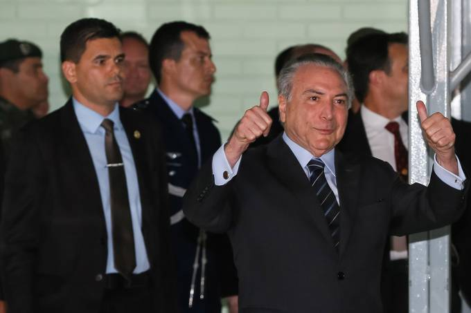 Presidente Michel Temer recebe alta após tratar obstrução urológica no Hospital Militar de Área de Brasília – 25/10/2017
