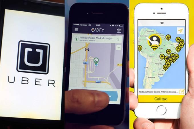 Uber, Cabify e 99