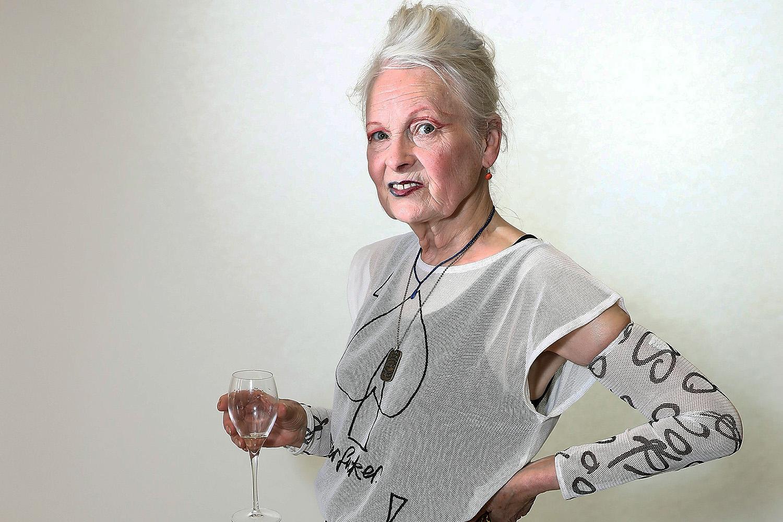A estilista Vivienne Westwood