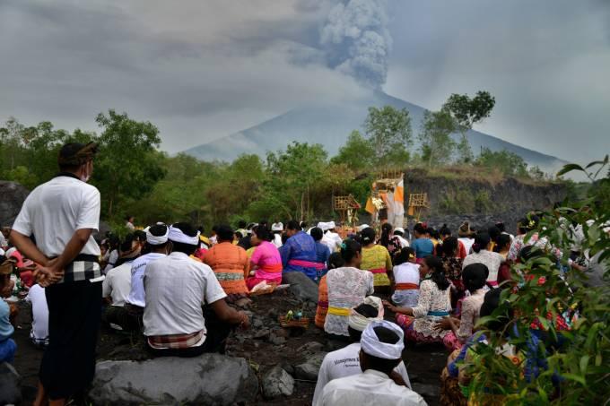 Monte Agung na Indonésia