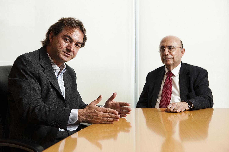 Joesley Batista, do grupo JBS, e Henrique Meirelles
