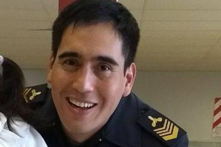 Jorge Eduardo Valdez tem 33 anos e é cabo principal no San Juan. Vive com sua filha em Mar del Plata