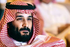 (FILES) This file photo taken on October 24, 2017 shows Saudi Crown Prince Mohammed bin Salman attending the Future Investment Initiative (FII) conference in Riyadh. On November 4, 2017 Saudi Arabia arrested 11 princes, including a prominent billionaire, and dozens of current and former ministers, reports said, in a sweeping crackdown as the kingdom's young crown prince consolidates power. / AFP PHOTO / FAYEZ NURELDINE