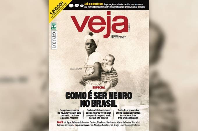 Capa da revista VEJA – 'Como é ser negro no Brasil'