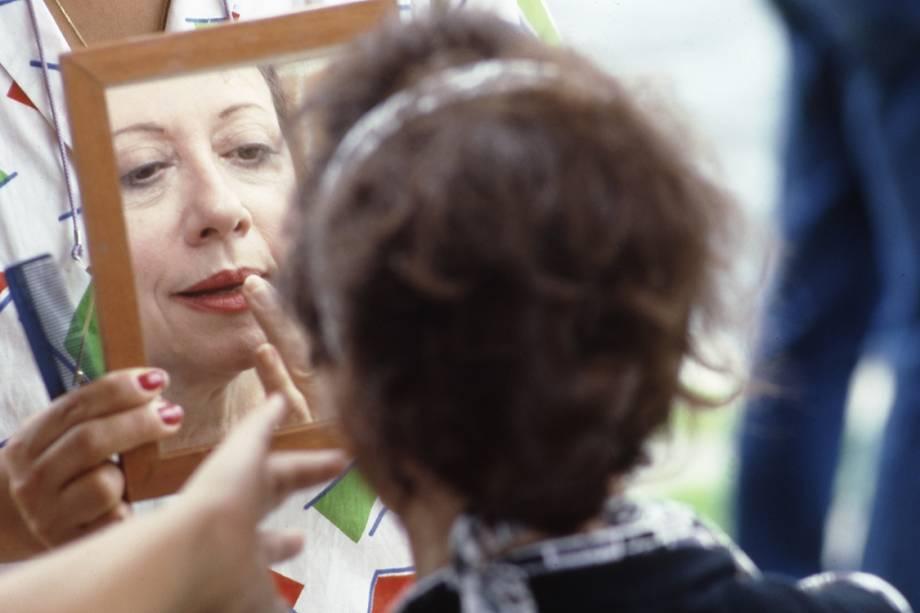 Fernanda Montenegro na já clássica novela 'Cambalacho', de 1986, em que fazia a trambiqueira Nana