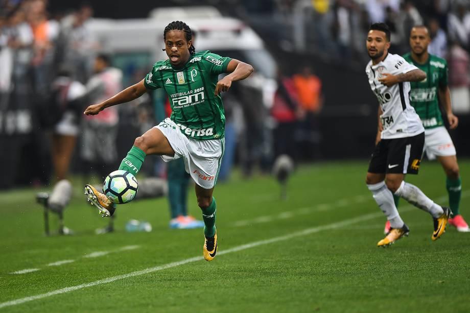Keno durante o jogo entre Corinthians e Palmeiras realizado no Arena Corinthians, Zona Leste de São Paulo. O Derby é válido pela 32ª rodada do Brasileirão 2017 - 05/10/2017