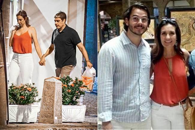 Willam Bonner e a namorada Natasha Dantas; e Fátima Bernardes com o namorado Túlio Gadelha