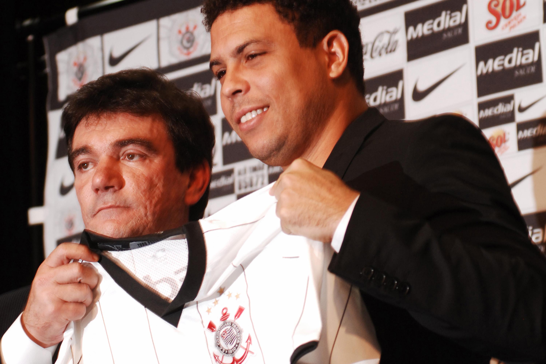 Ronaldo e Andrés Sanchez