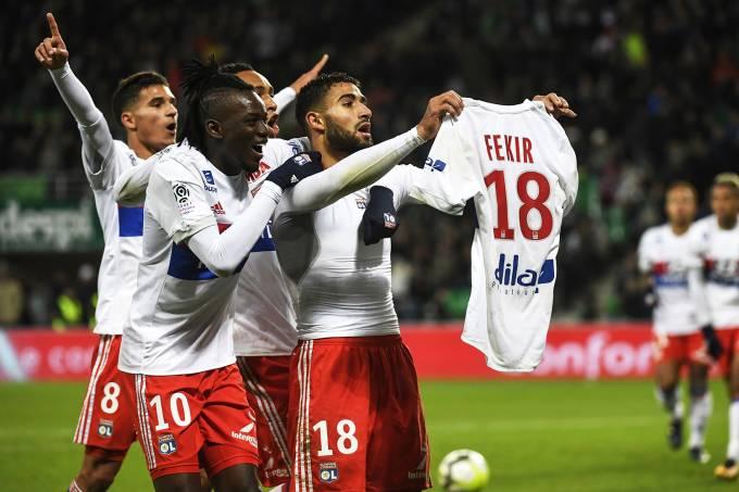 O jogador Fekir, do Lyon