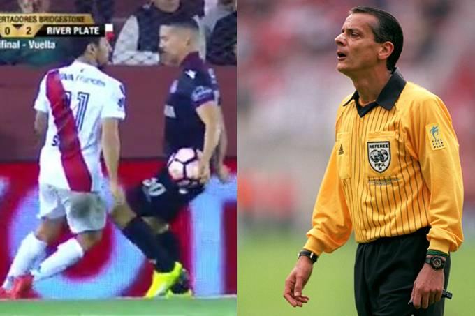 Toque de mão entre River x Lanús e o ex-árbitro Javier Castrilli