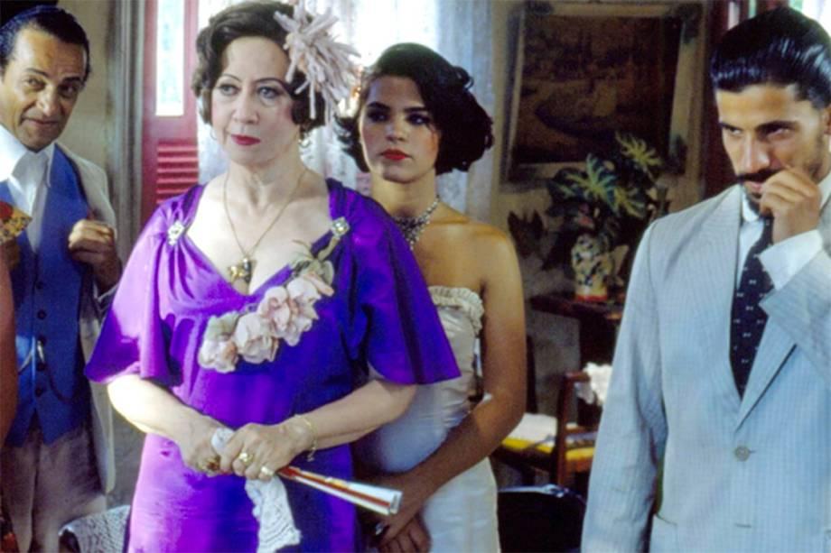 Nelson Xavier, Fernanda Montenegro e Leonardo Brício, na bela novela 'Renascer',<span>de Benedito Ruy Barbosa,</span>de 1993