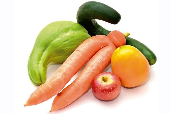"Legumes e frutas da ""Fruta Imperfeita"""