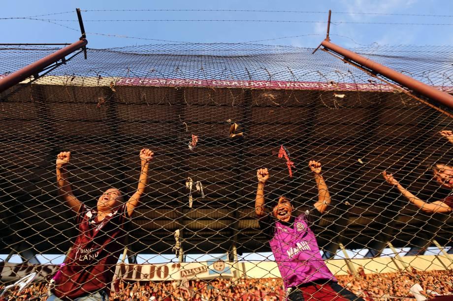Torcedor antes da partida entre Lánus e Grêmio, válida pela final da Copa Libertadores da América 2017, realizado no Estádio Néstor Díaz Pérez (La Fortaleza), em Lanús, na Argentina - 29/11/2017