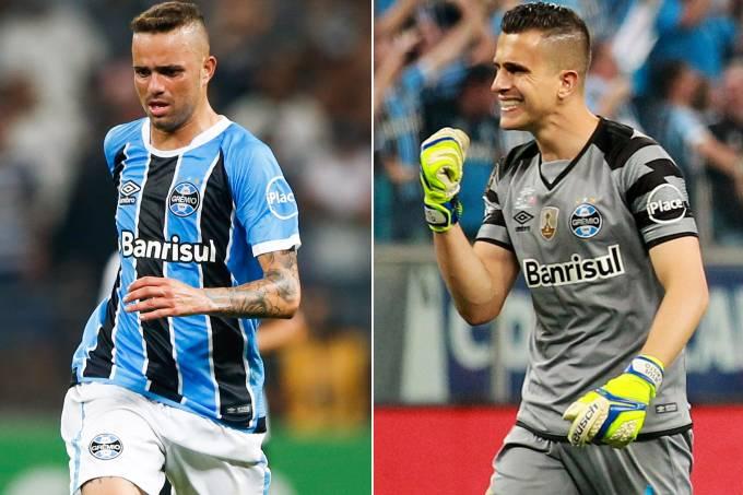 Grêmio – O atacante Luan e o goleiro Marcelo Grohe