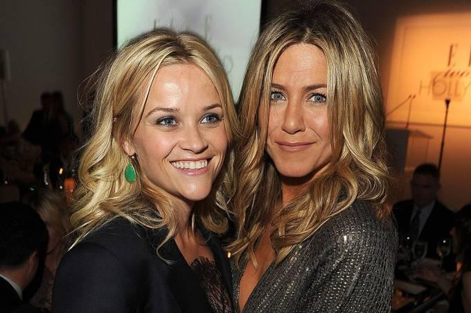 As atrizes Jennifer Aniston e Reese Witherspoon