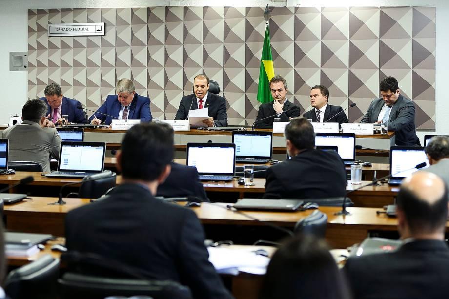 O empresário Joesley Batista, sócio da empresa J&F, em audiência conjunta da CPMI da JBS e da CPI do BNDES, em Brasília - 28/11/2017