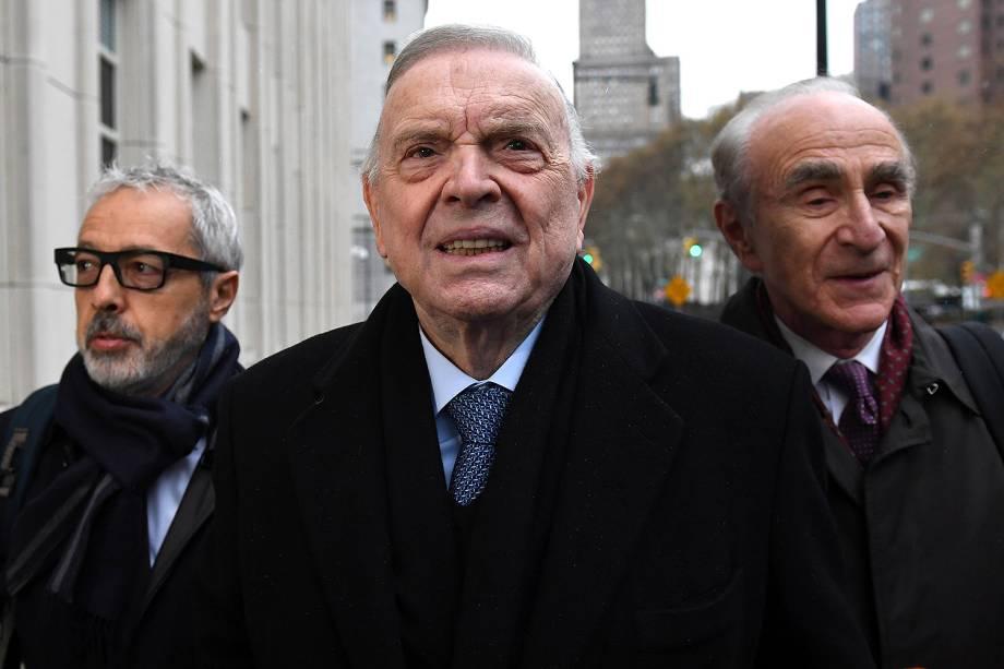 O ex-presidente da CBF José Maria Marin, acusado no escândalo da Fifa, chega a tribunal em Nova York (EUA) -  13/11/2017