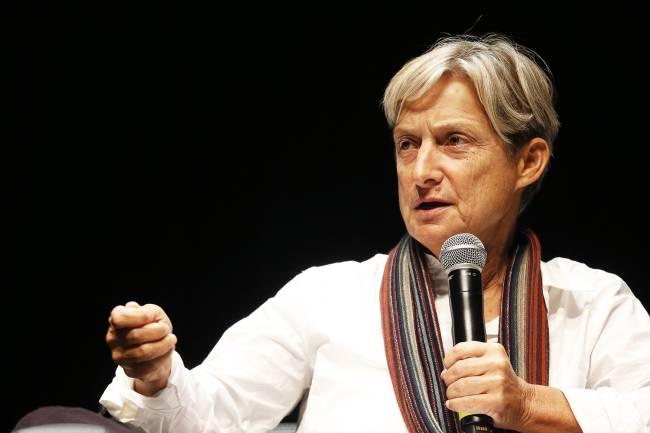Judith Butler, filósofa, durante o seminario Queer, no Sesc Vila Mariana, em São Paulo (SP) - 09/09/2015