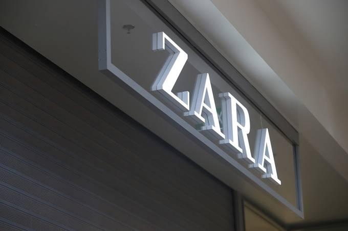 Fachada de uma loja da Zara