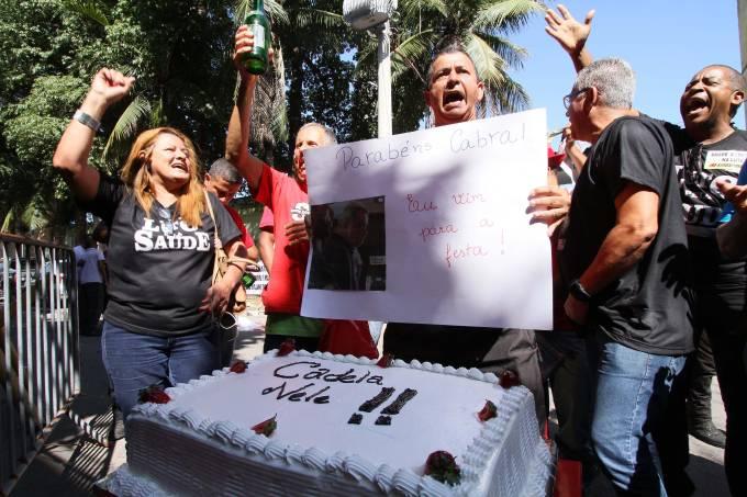 Ato em frente à Cadeia Pública José Frederico Marques, RJ