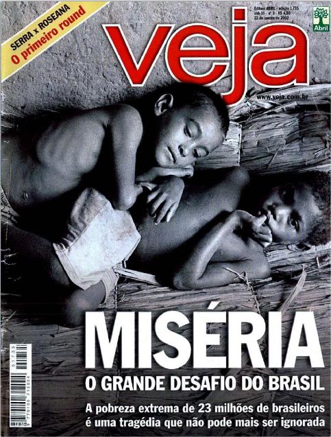 Capa de 2002 alertava que a pobreza extrema de 23 milhões de brasileiros não podia ser ignorada