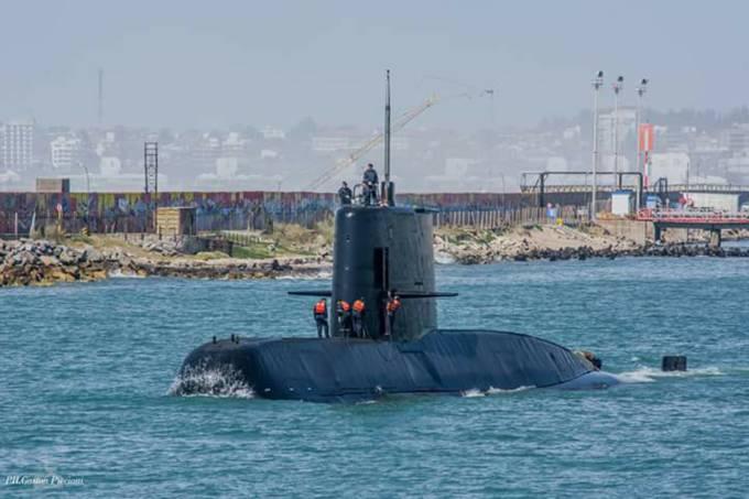 Partida do submarino ARA San Juan, que está desaparecido