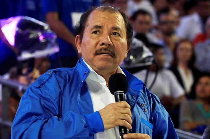 O presidente da Nicarágua, Daniel Ortega