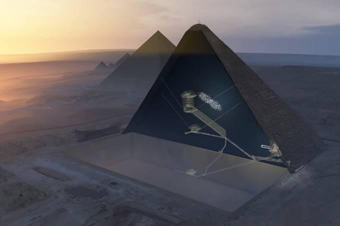 Nova câmara vazia é encontrada na Grande Pirâmide de Quéops