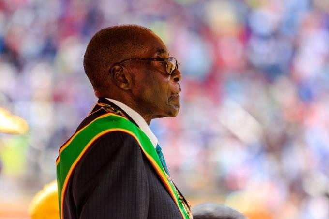 O ditador do Zimbábue Robert Mugabe