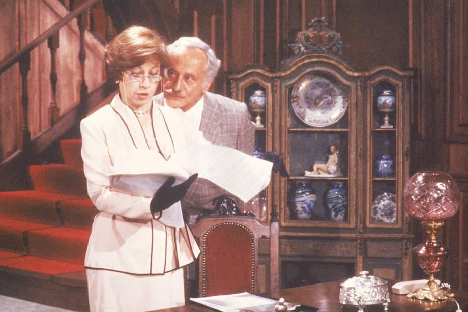 Paulo Autran e Fernanda Montenegro na novela 'Guerra dos Sexos', de 1983