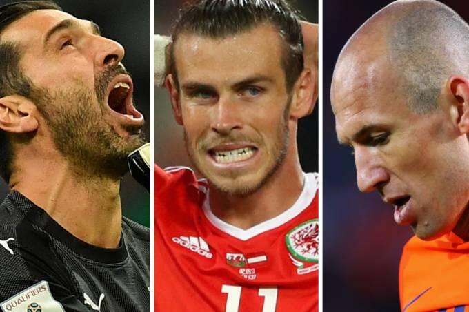Buffon, Bale e Robben