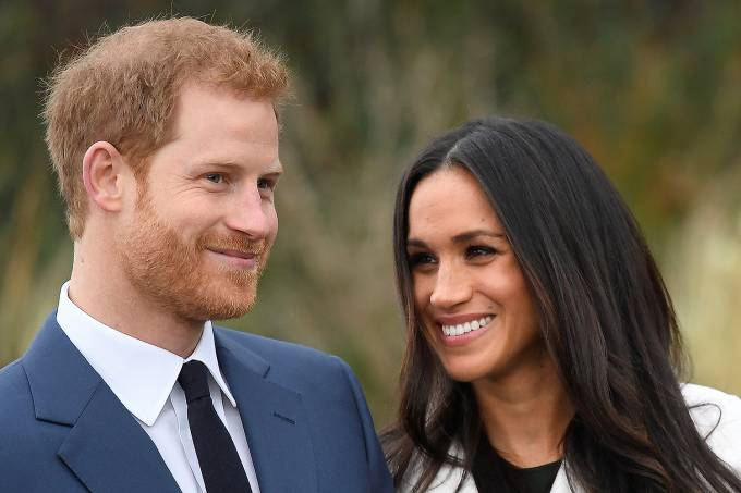 Príncipe Harry e sua noiva Meghan Markle