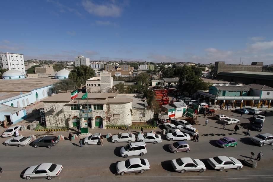 Avenida principal da cidade de Hargeisa, na Somalilândia.