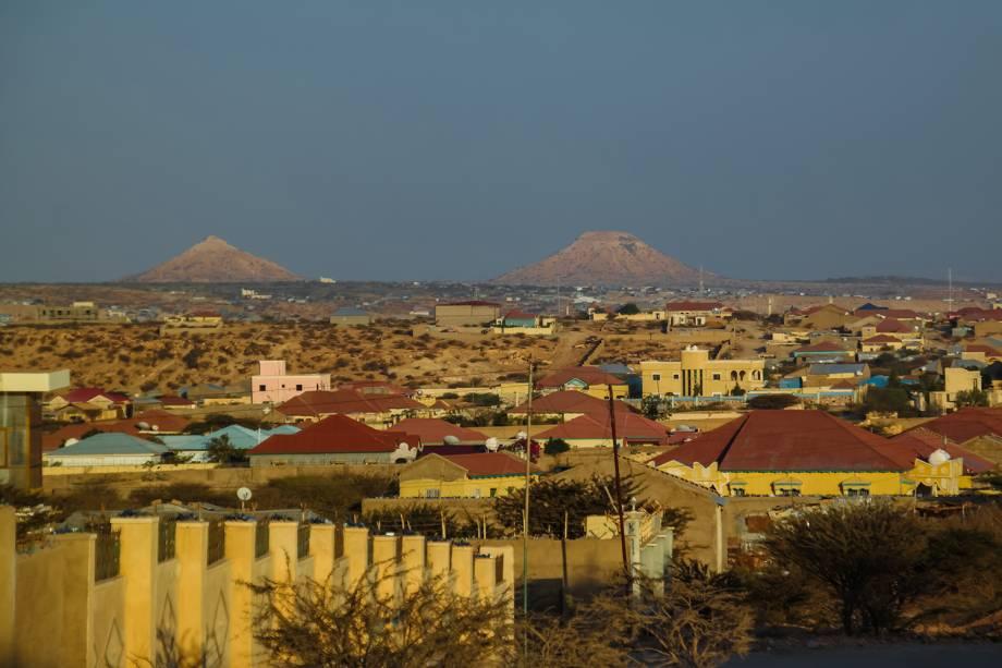 Vista da cidade de Hargeisa, na Somalilândia.