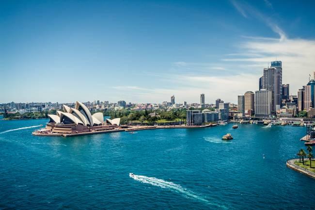 Vista aėrea da cidade de Sydney, na Austrália - 30/01/2015