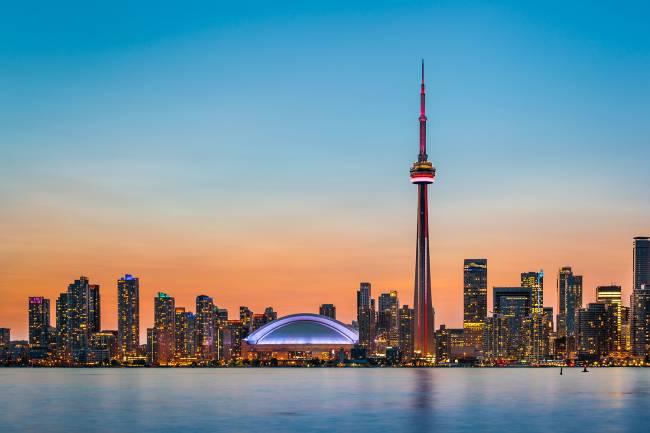 Vista da cidade de Toronto, no Canadá - 01/02/2015