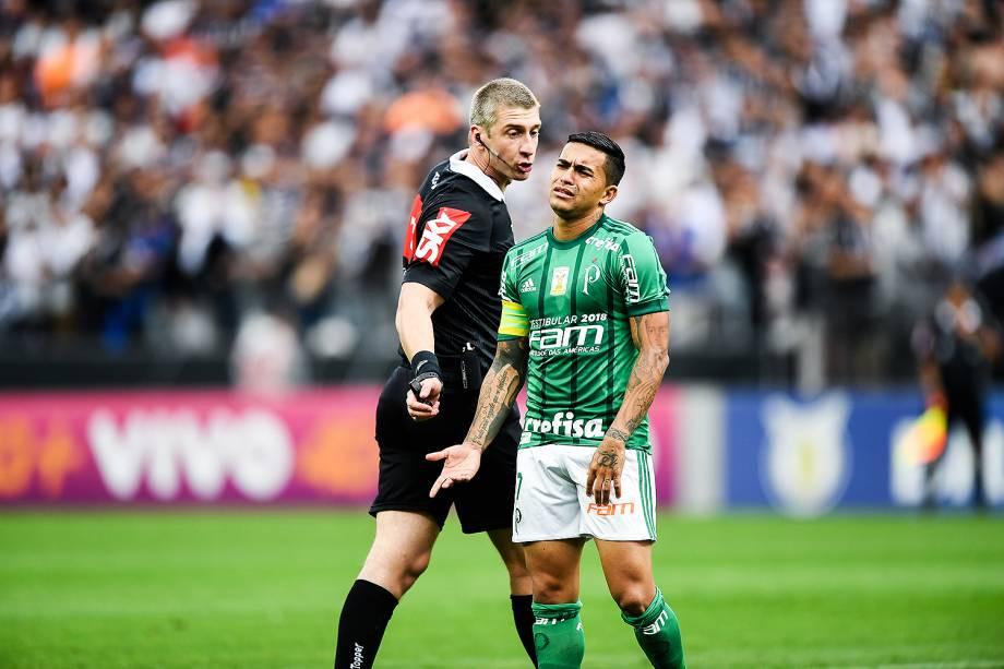 Dudu durante o jogo entre Corinthians e Palmeiras realizado na Arena Corinthians, Zona Leste de São Paulo. O Derby é válido pela 32ª rodada do Brasileirão 2017 - 05/11/2017