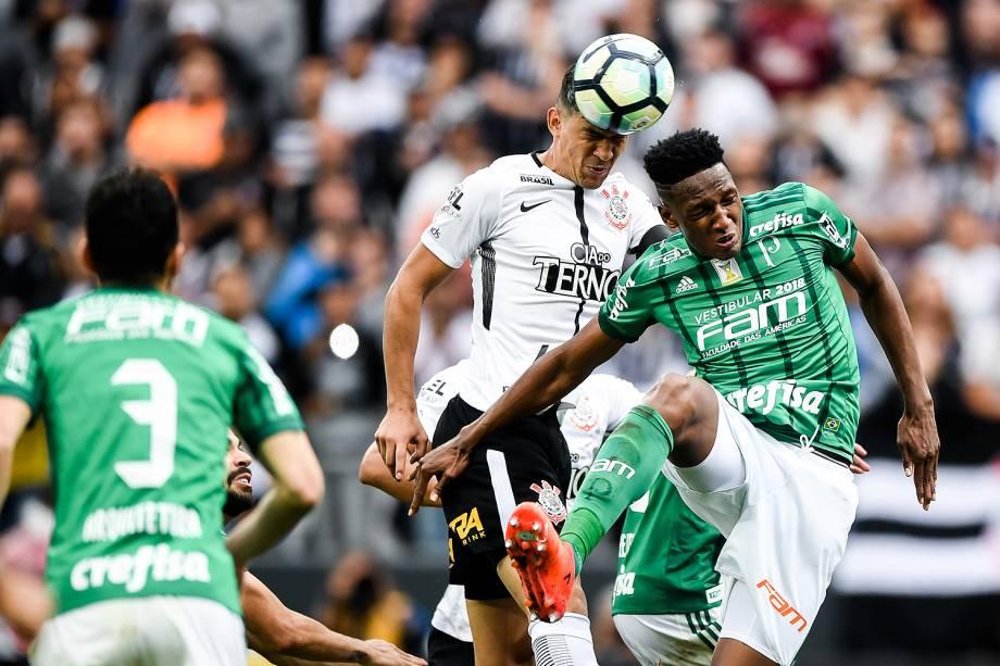 Jogo entre Corinthians e Palmeiras realizado na Arena Corinthians, Zona Leste de São Paulo. O Derby é válido pela 32ª rodada do Brasileirão 2017 - 05/11/2017