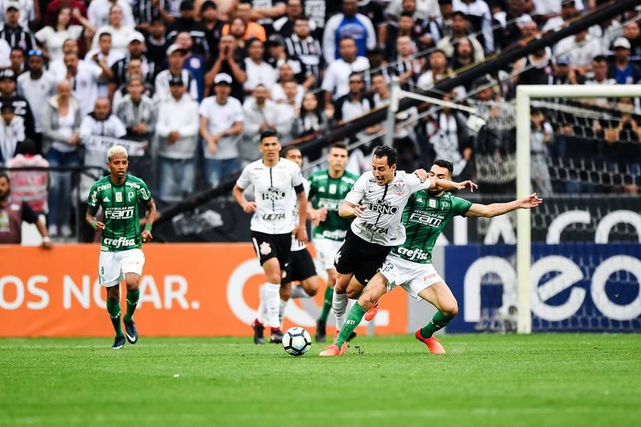 Rodriguinho durante o jogo entre Corinthians e Palmeiras realizado na Arena Corinthians, Zona Leste de São Paulo. O Derby é válido pela 32ª rodada do Brasileirão 2017 - 05/11/2017