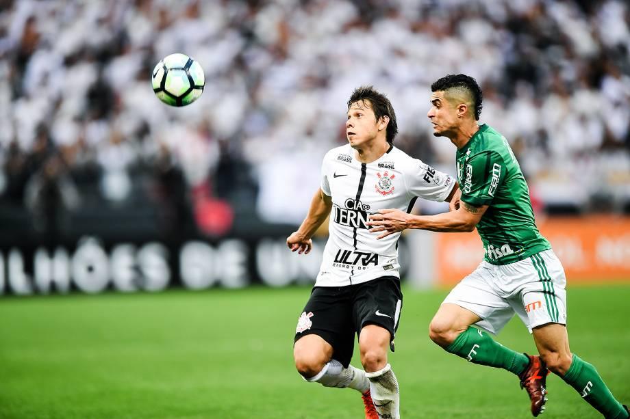 omero durante o jogo entre Corinthians e Palmeiras realizado na Arena Corinthians, Zona Leste de São Paulo. O Derby é válido pela 32ª rodada do Brasileirão 2017 - 05/11/2017