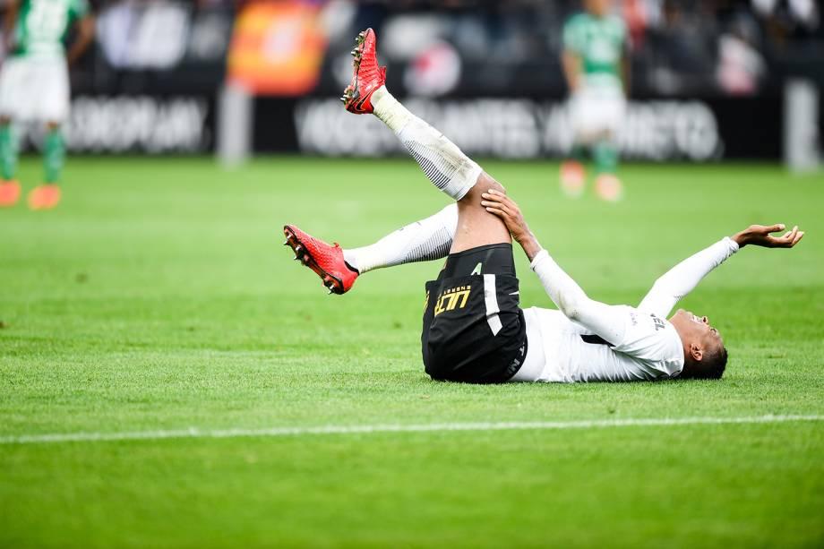 Jô durante a partida entre Corinthians e Palmeiras, na Arena Corinthians na zona leste de São Paulo, válida pela 32ª rodada do Campeonato Brasileiro 2017 - 05/11/2017