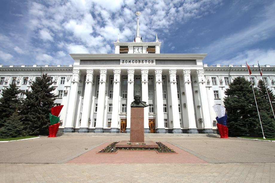 Tiraspol, capital da Transnístria, ainda mantém traços soviéticos.
