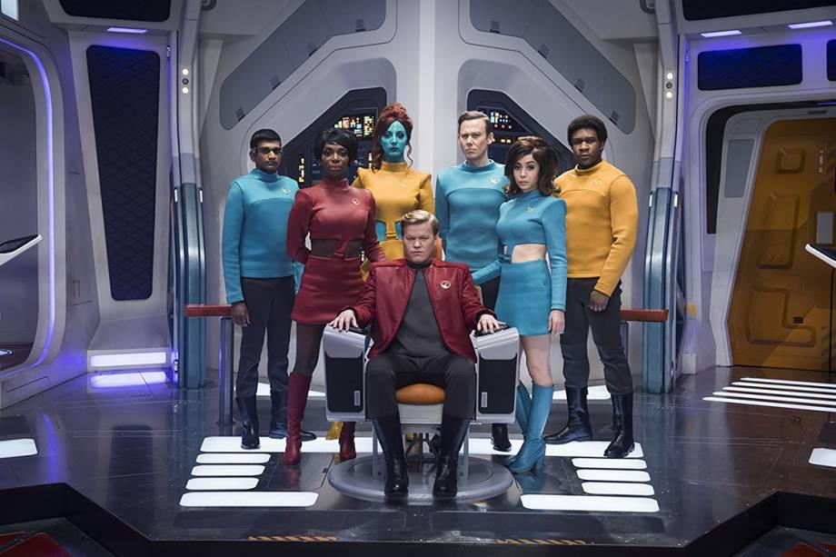 Cena do episódio 'USS Callister', da série 'Black Mirror'