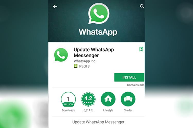 Falso aplicativo WhatsApp Messenger