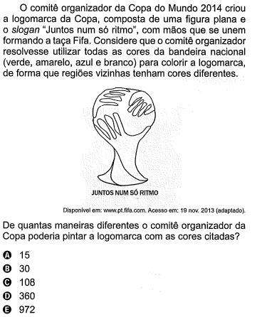 Questão 157 - Prova Rosa do Enem