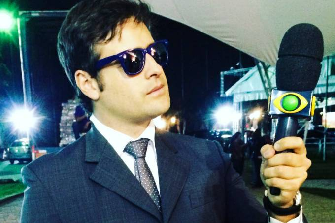 Rodrigo Scarpa, como Repórter Vesgo, no programa 'Pânico na Band'