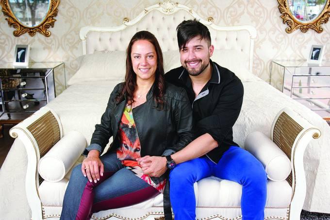 Silvia Abravanel, filha de Silvio Santos e apresentadora do SBT, e seu marido Edu Pedroso, cantor sertanejo