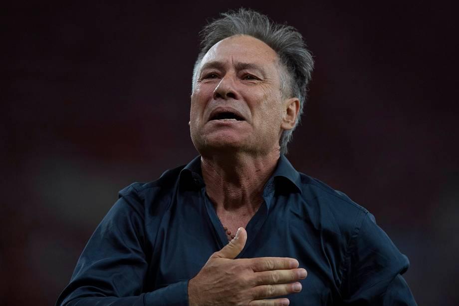 Ariel Holan  -  O Independiente empatou por 1 a 1 com o Flamengo e se consagrou bicampeonato da Copa Sul-Americana de 2017