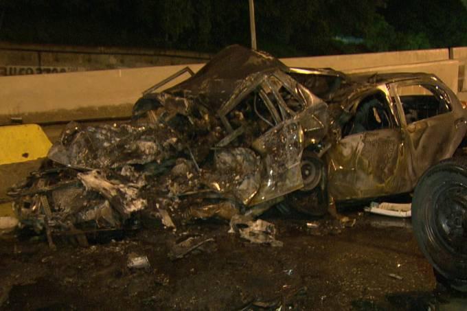 Acidente na Avenida Brasil no Rio e Janeiro